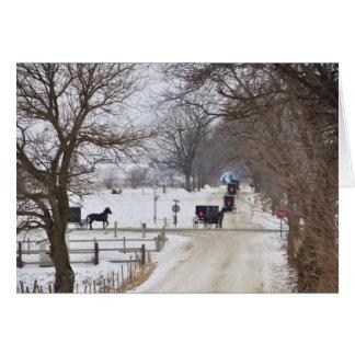 Amish Winter Procession Card