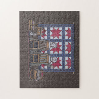 Amish Women Quilting Puzzles
