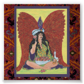 Amisi Angel on Moroccan Rug Poster