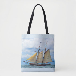 Amistad Under Sail Tote Bag