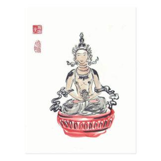 Amitayus Buddha Art Postcard