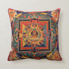 Amitayus Mandala Throw Pillow