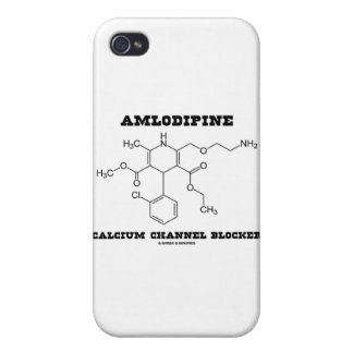 Amlodipine Calcium Channel Blocker (Chemistry) Covers For iPhone 4