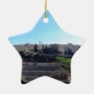 Amman Roman Theater Ceramic Star Ornament