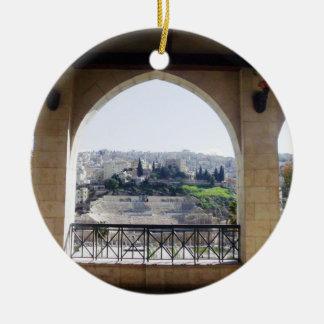 Amman Theater View Round Ceramic Ornament