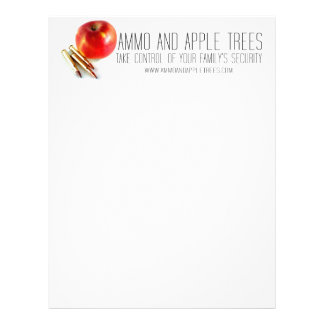 Ammo and Apple Trees Bullets Personal Preparedness Letterhead Template
