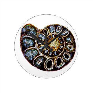 Ammonite Round Clock