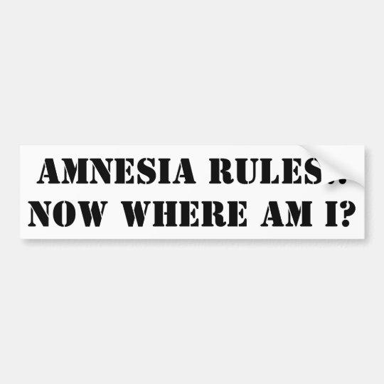 Amnesia Bumper Sticker