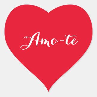 Amo-te I Love You in Portuguese Red Heart Sticker