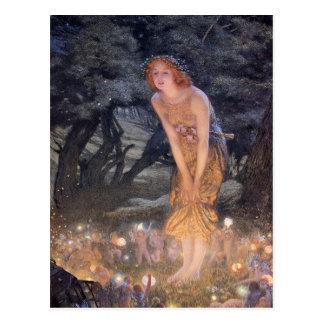 Among Fairies Vintage Postcard