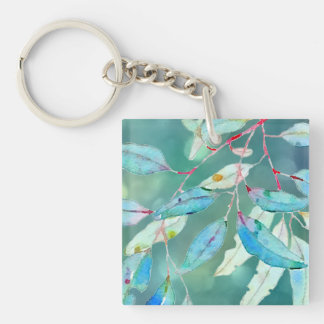 Among the Branches Double-Sided Square Acrylic Keychain