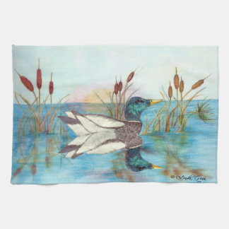 Among the Cattails Kitchen Towel
