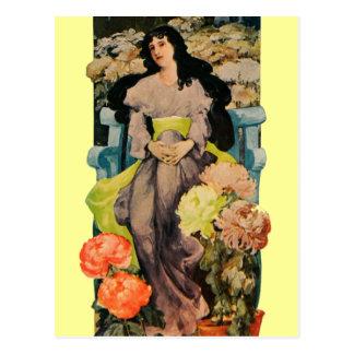 Among the Chrysanthemums Postcard