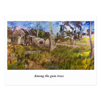 Among the Gum Trees, Old Homestead, NSW Postcard