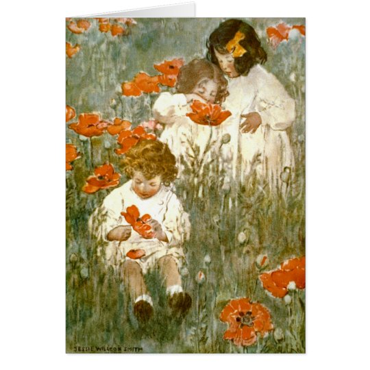 Among the Poppies 1904 Card