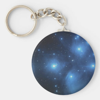 AMONG THE STARS BASIC ROUND BUTTON KEYCHAIN
