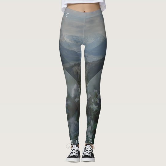Among The Wildflowers Mountain Setting Leggings