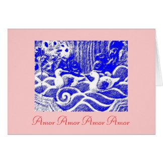 """""""Amor Amor Amor Amor"""" Card"""