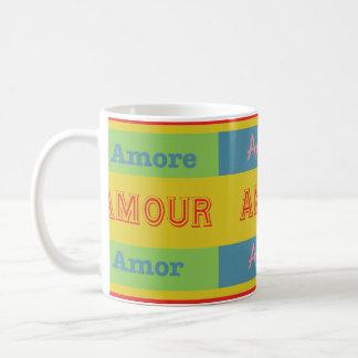 Amor, Amour, Amore Coffee Mug