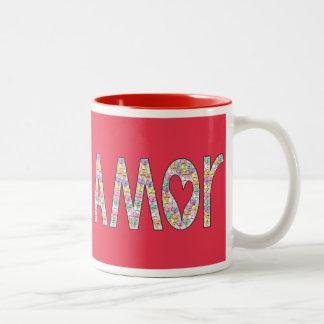 Amor Candy Heart Red Mug