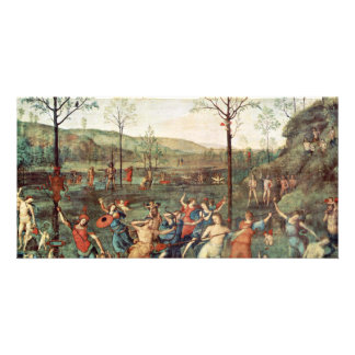 Amor Fight Against Chastity By Perugino Pietro Personalized Photo Card