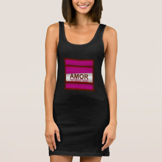 AMOR  Jersey Tank Dress-Women-Cranberry/White
