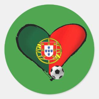 Amor, Portugal e Futebol - O que mais vôce quer ? Classic Round Sticker