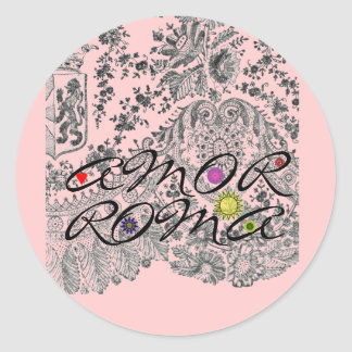 Amor Roma Round Sticker