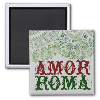 Amor Roma With Green Lace Magnet