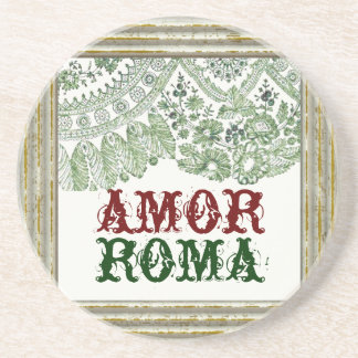 Amor Roma With Vintage Lace Coaster