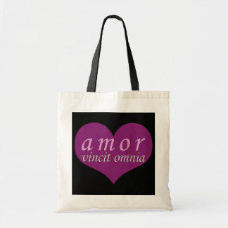 Amor Vincit Omnia Love Conquers All Valentines Day Canvas Bag