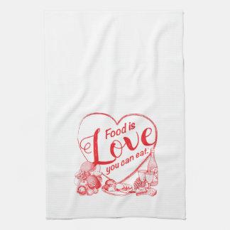 Amore Outline Kitchen Towel