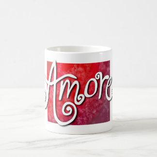 Amore - reverse red jazzy coffee mug