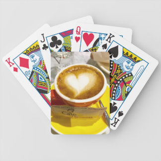 Amoreccino I heart Italian Coffee Bicycle Playing Cards