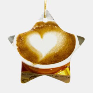 Amoreccino I heart Italian Coffee Ceramic Ornament