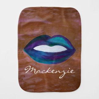 Amorous Baby | Name Lips Kiss XOXO Lipstick Diva Burp Cloth