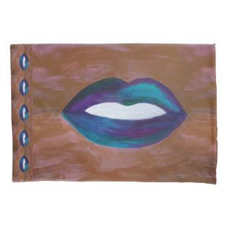 Amorous Bed | Lips Kiss XOXO Lipstick Girly Diva Pillowcase