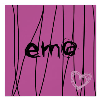 amour 3 d'emo affiches