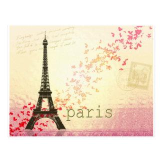 Amour à Paris Carte Postale