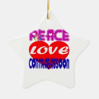 Amour CONTRABASSOON de paix Décorations Pour Sapins De Noël