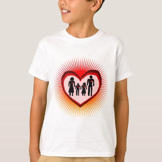 amour de famille dans l'illustration t-shirt