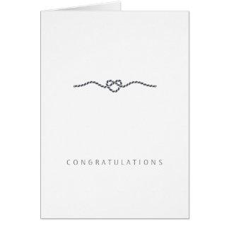 Amour   de félicitations de mariage doux et simple carte de vœux
