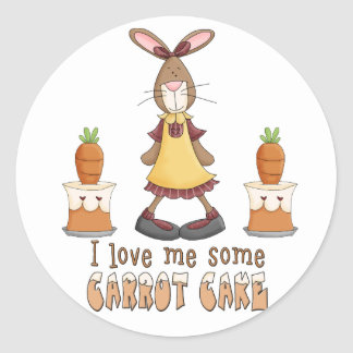 Amour de gâteau à la carotte sticker rond