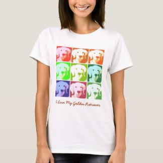 Amour de golden retriever t-shirt