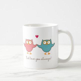 amour de hibou vous tasse à café