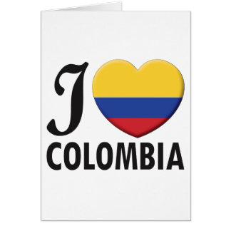 Amour de la Colombie Carte