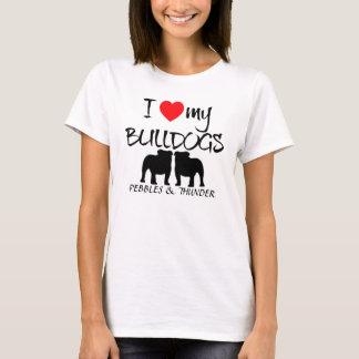 Amour de la coutume I mes bouledogues T-shirt