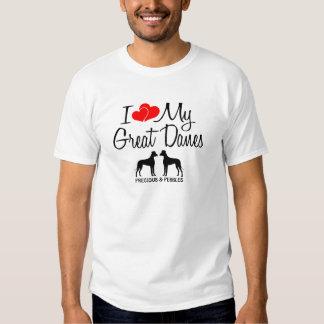 Amour de la coutume I mes deux grands Danois T-shirt