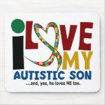 Amour de l'AUTISME I mon fils autiste 2 Tapis De Souris