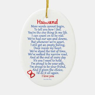 Amour de mari décorations pour sapins de noël